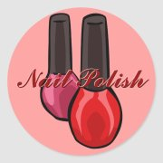 nail polish stickers zazzle