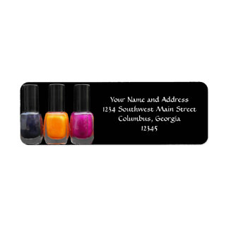 Nail Salon Business Bright Polish Bottles Label