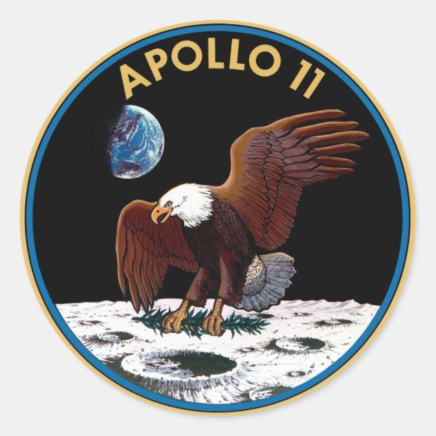 NASA Apollo 11 Logo Classic Round Sticker