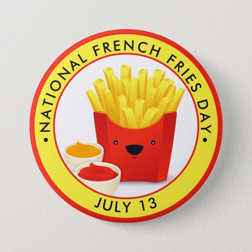 National French Fries Day Button