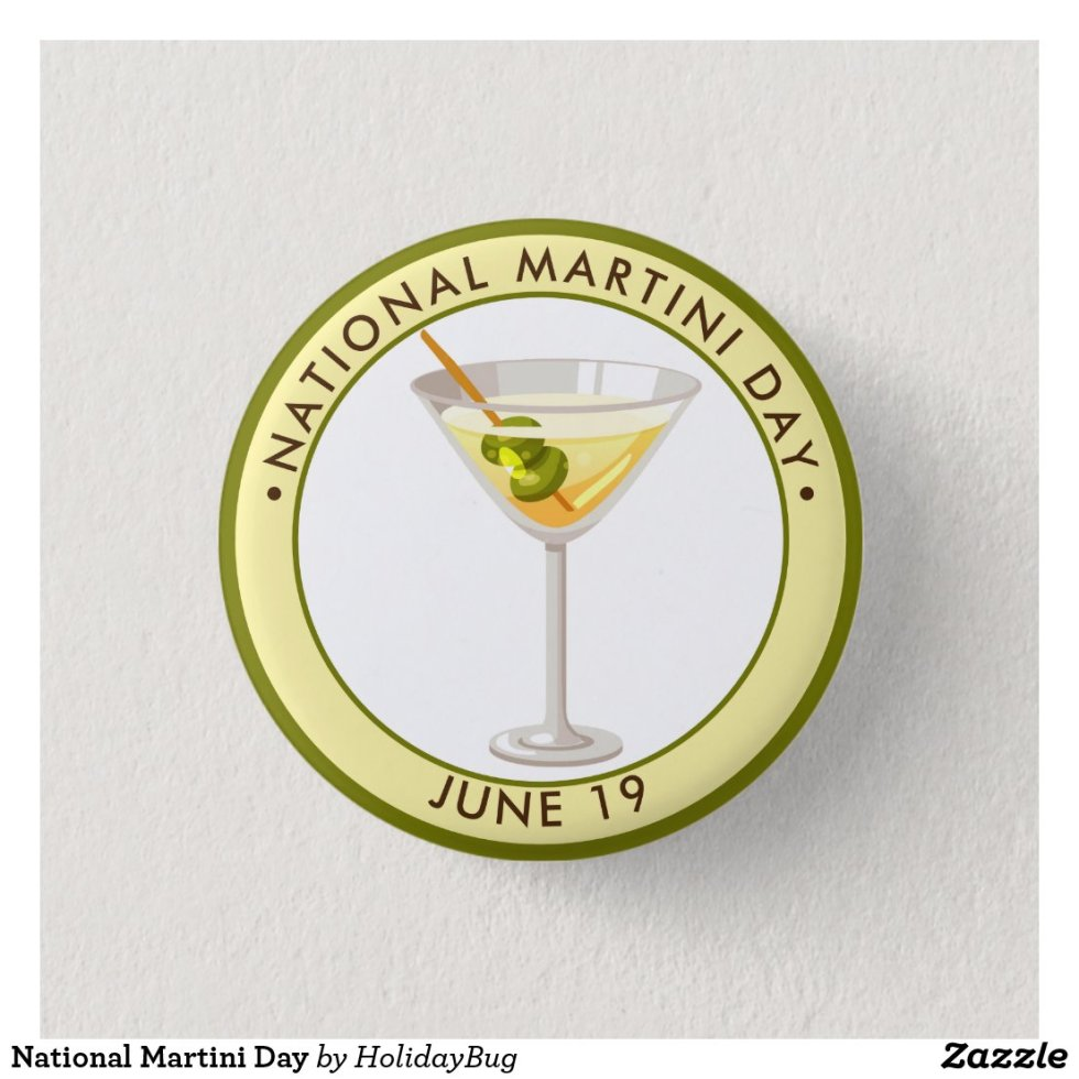 National Martini Day Button