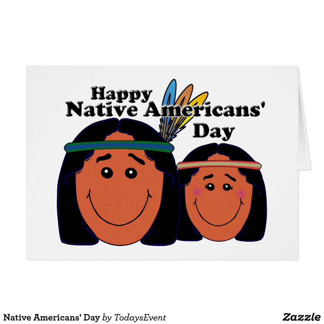 Native Americans' Day Card