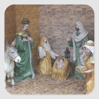 Nativity Scene Sticker
