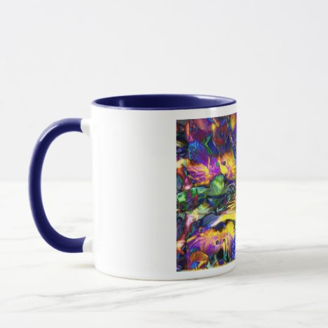 Nature Reflections II - Violet & Gold Birds Mug