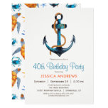 Nautical Anchor Birthday Party Invitation
