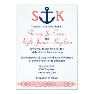 Nautical Yacht Coastal Wedding Invitations