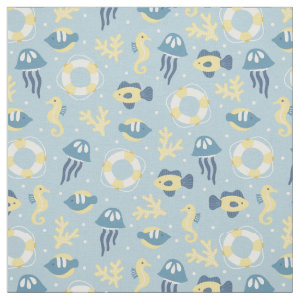 Nautical Aquatic Design Fabric