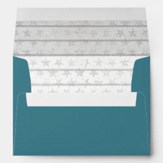 Nautical Beach Wedding   Matching Envelope