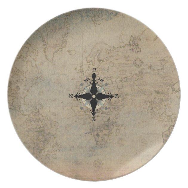 Nautical Dinnerware Melamine Plate