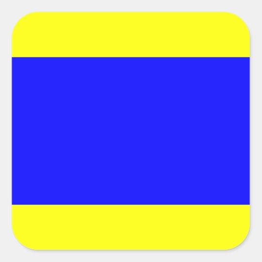 Nautical Flag Signal Letter D (Delta) Square Sticker ...
