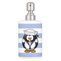 Nautical Penguin Bathroom Set | Zazzle