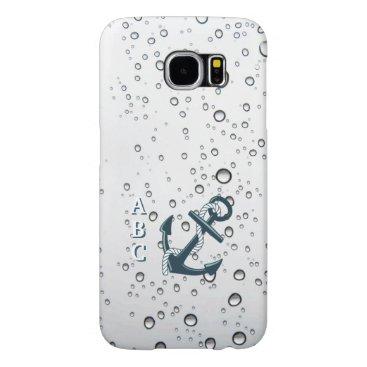 Nautical Sinking Anchor Monogrammed Samsung Galaxy S6 Case