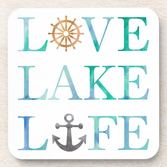 Download Nautical Typography Love Lake Life Anchor Wheel Coaster ...