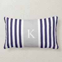 Navy And Grey Pillows - Decorative & Throw Pillows | Zazzle