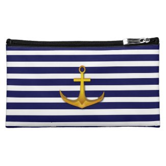 Navy Stripes Bagettes Bag Makeup Bag