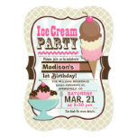 Neapolitan Ice Cream Kid's Birthday Party Invitation