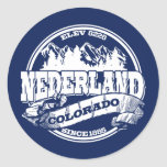 Nederland Old Circle Blue Classic Round Sticker