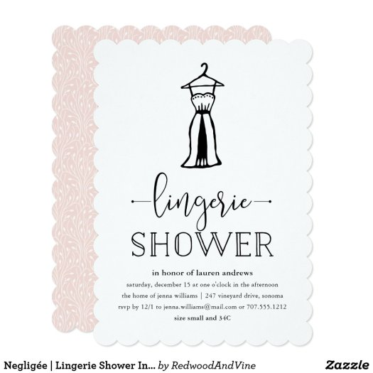 Negligée | Lingerie Shower Invitation