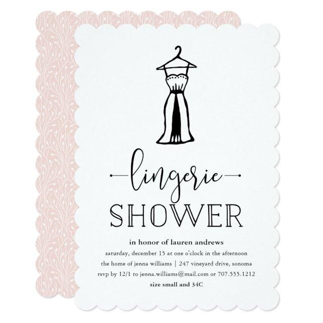 Negligée   Lingerie Shower Invitation