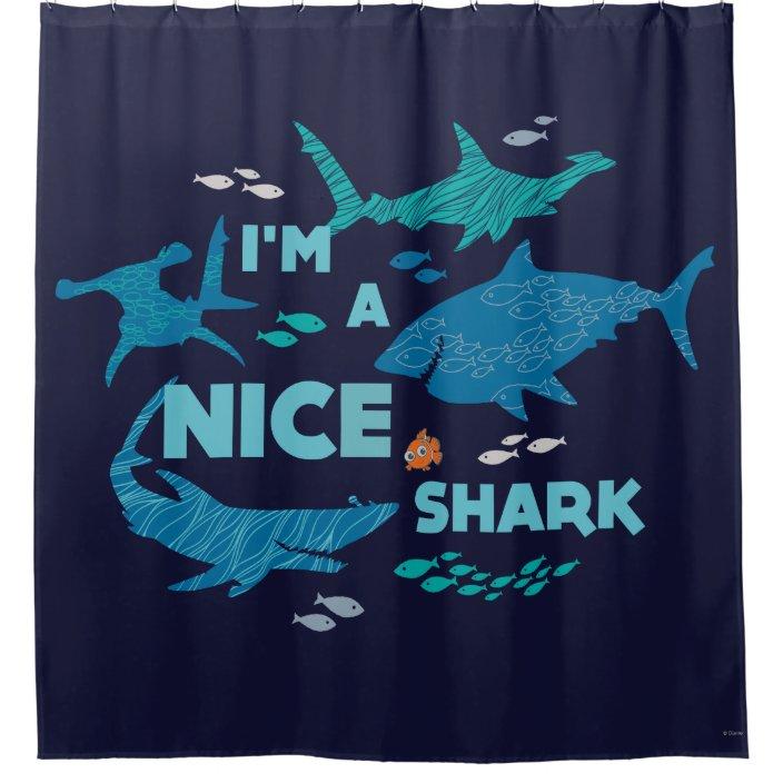 nemo and sharks i m a nice shark shower curtain zazzle com