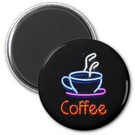 Neon Coffee Sign Magnet
