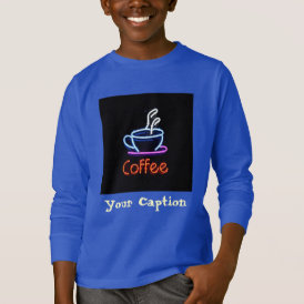 Neon Coffee Sign T-Shirt