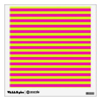Neon Pink and Neon Green Stripes Wall Sticker | Zazzle
