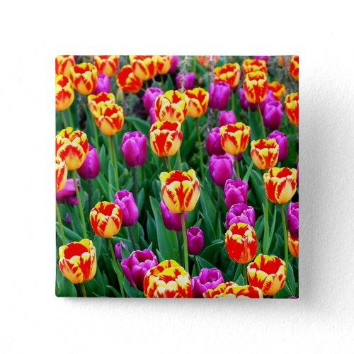 Neon Tulip Pin button