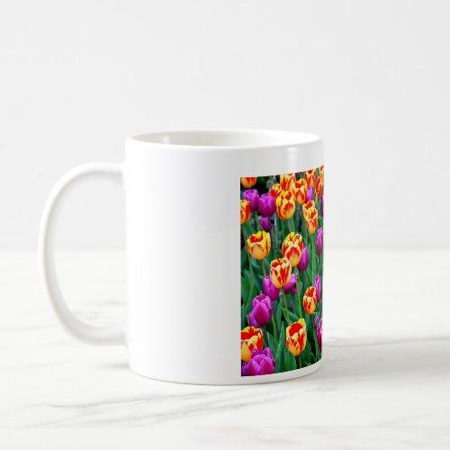 Neon Tulips Mug mug