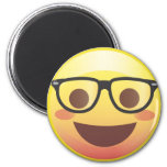 ❤️ Nerdy Glasses Happy Emoji Magnet