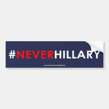 Never Hillary Bumper Sticker #NEVERHILLARY (Blue)