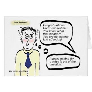 New Economy - Cartoon Guy - Card card