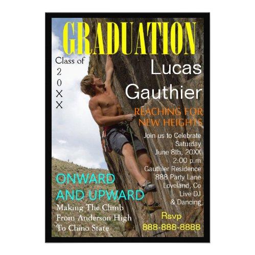 New Heights Graduation Magazine Cover Invite
