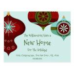 New Home For the Holidays | Retro  Christmas Postcard