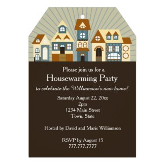 New Home Just Moved Housewarming Party Invitations
