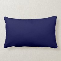 New Navy Blue Solid Lumbar Pillow Gift | Zazzle
