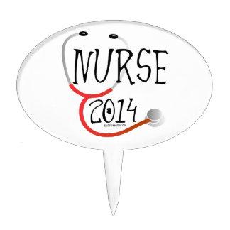 New Nurse Graduation Announcement 2014 Cake Topper