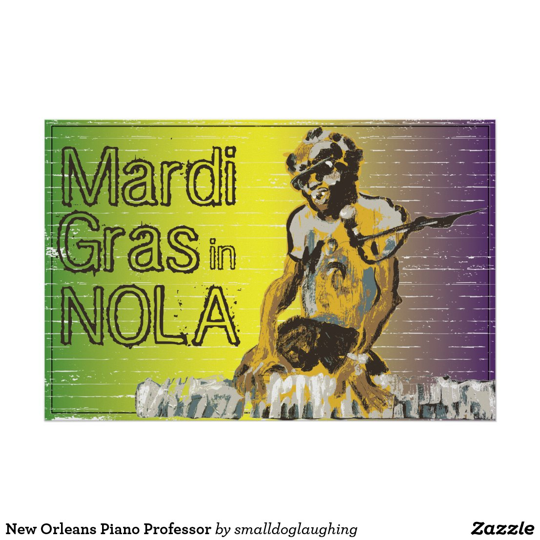 New Orleans Piano Professor Poster