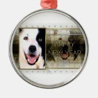 New Year - Golden Elegance - Border Collie Ornament