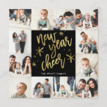 New Years Gold Foil Seamless 12 Photo Card