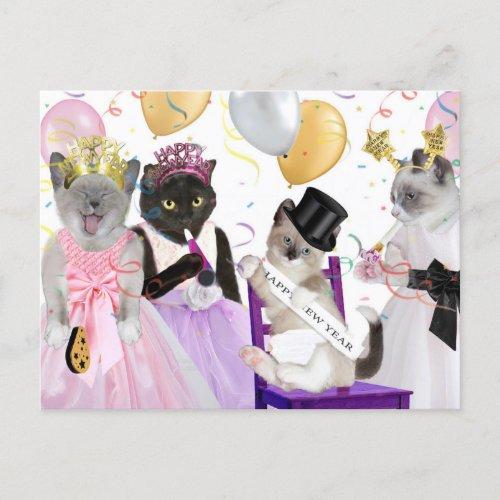 New Year's Kitten Postcard