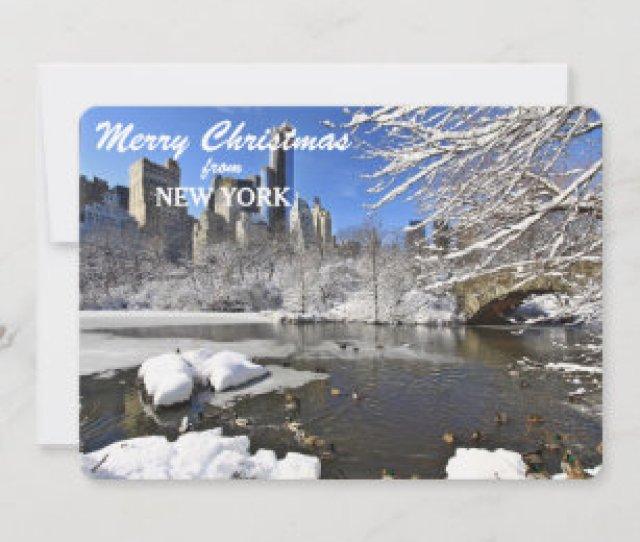 New York Central Park Skyline Christmas Template