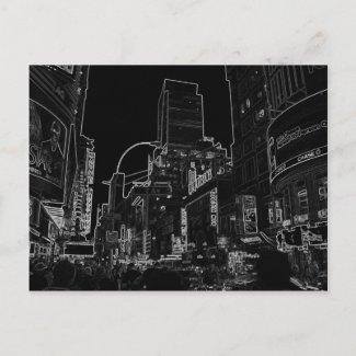 New York City Night Scenes IV - CricketDiane Post Card