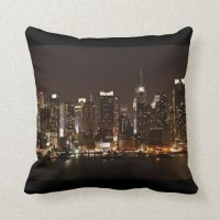 New York City Skyline Pillows | Zazzle