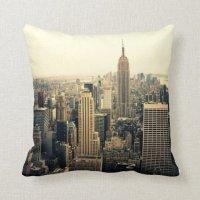 New York City Skyline Throw Pillows | Zazzle