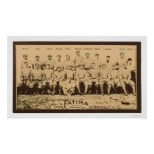 New York Giants Baseball 1913 Poster
