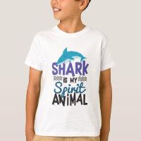 Nice Shark Is My Spirit Animal Print T-Shirt