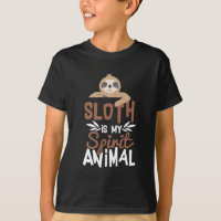 Nice Sloth Is My Spirit Animal Print T-Shirt