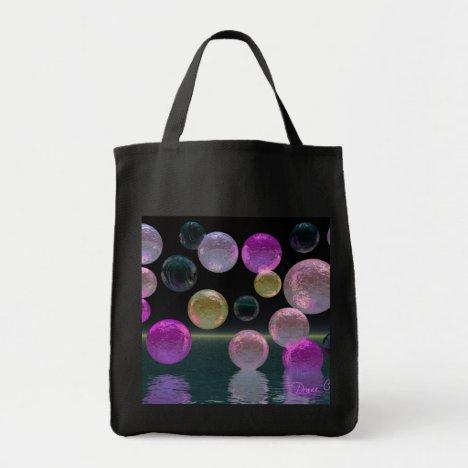 Night Jewels – Magenta and Black Brilliance Tote Bag