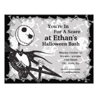 Nightmare Before Christmas Halloween Party Custom Announcement